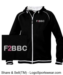 Feet to Beat Breast Cancer Full Zip Grace Sweatshirt - Ladies Design Zoom