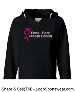 Feet to Beat Breast Cancer Pull-over hoodie Design Zoom